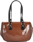 Rocia Hand-held Bag (Brown, Black)