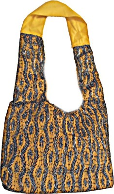 Ellye Girls Yellow Cotton Sling Bag