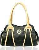 Black & Yellow Hand-held Bag (Black)