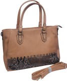 Glam Attires Hand-held Bag (Brown)