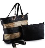 Glam Attires Messenger Bag (Brown, Gold)