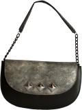 Demure Shoulder Bag (Black, Silver)