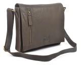 Hide Stitch Messenger Bag (Grey)