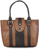 Skyways Hand-held Bag (Brown, Black)