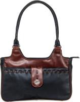 Goodwill Leather Art Shoulder Bag(Black)