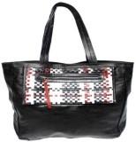 Leather Smith India Tote (Black, Multico...