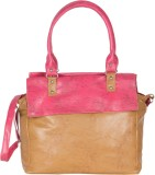 Cottage Hand-held Bag (Tan, Pink)
