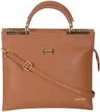 Hunar India Hand-held Bag (Brown)