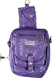 A To Z Creations Hand-held Bag (Purple)