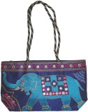 Damask Fashion Shoulder Bag (Blue)