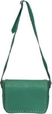 Essart Women, Men Green PU Sling Bag