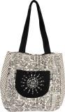 Pick Pocket Shoulder Bag (Black, White)