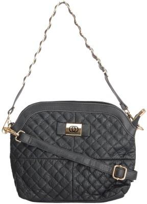 Home Union Women Casual Black PU Sling Bag