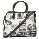 Bandbox Hand-held Bag (Black, White)