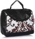 Home Heart Hand-held Bag (White, Brown)