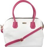 Sarah Hand-held Bag (White, Pink)