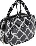 Needlecrest Hand-held Bag (Black, White)