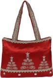 Gold Zari House Shoulder Bag (Red)