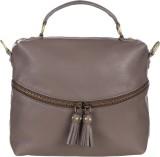 Handle Drop Hand-held Bag (Brown)