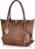 Tanishka Exports Hand-held Bag (Brown)