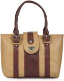 Skyways Hand-held Bag (Maroon, Tan)