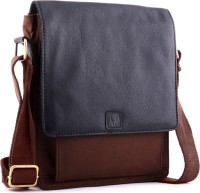 WildHorn Sling Bag(Black, Brown)