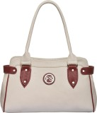 Fostelo Shoulder Bag (White, Maroon)
