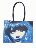 Jute Tree Tote (Blue)