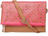 Dressberry Sling Bag (Brown, Pink)