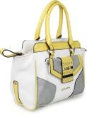Amatra Hand-held Bag (White, Yellow)