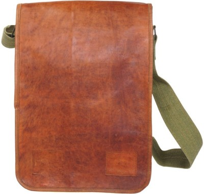 pranjals house Messenger Bag(green, brown)