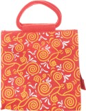 Jute Cottage Hand-held Bag (Red, Yellow)