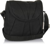 Home Heart Women Casual Black PU Sling B...