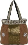 Gold Zari House Shoulder Bag (Brown, Gre...
