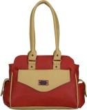 Leather Land Shoulder Bag (Red, Beige)