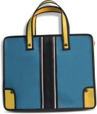 Pencilled Hand-held Bag (Blue, White And...