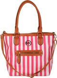Naitik Products Satchel (Pink, White)
