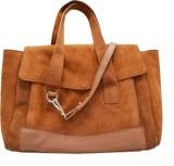 Paint Hand-held Bag (Brown)