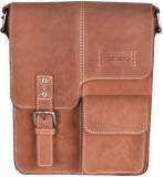 Hide Stitch Messenger Bag (Tan)