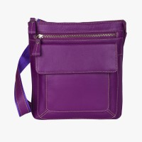 Teakwood Messenger Bag(Purple)