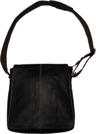 Leather Mall Messenger Bag