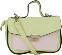 Skyline Messenger Bag(Green, Pink)