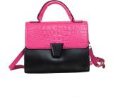 Peaubella Hand-held Bag (Black, Pink)