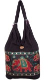 Khatri Handicrafts Messenger Bag (Black)