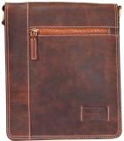 Hide Stitch Messenger Bag (Brown)