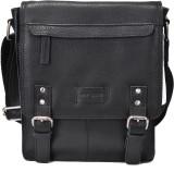 Hide Stitch Messenger Bag (Black)