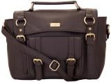 Yelloe Hand-held Bag (Brown)