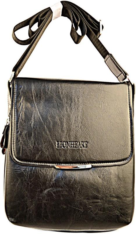 Lion Heart Messenger Bag(Black)