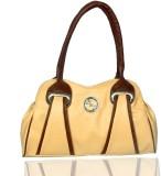 Black & Yellow Hand-held Bag (Tan)