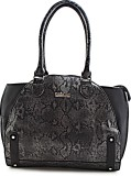 Calvino Hand-held Bag (Black, Grey)